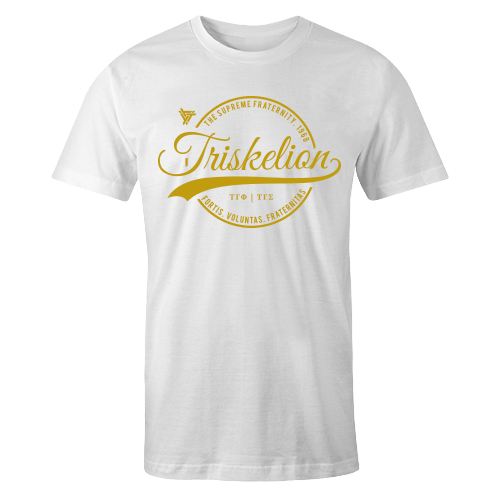 Triskelion Circle White Cotton Shirt