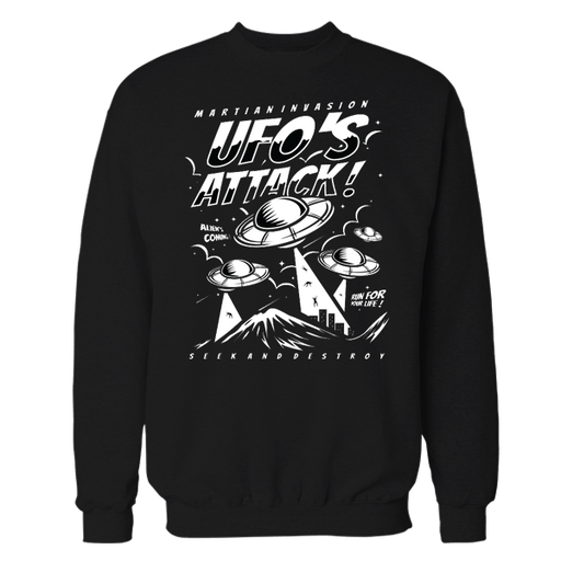 Space Attack Black Sweatshirt