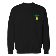UFO Ship Black Embroidered Cotton Shirt
