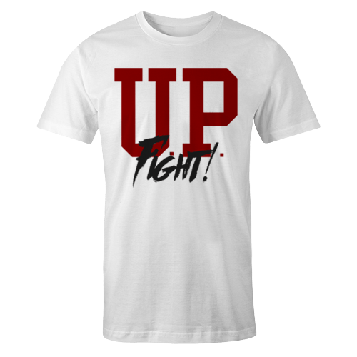 UP FIGHT White Cotton Shirt