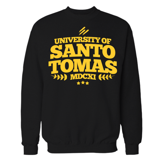 UST MDCXI Black Cotton Sweatshirt