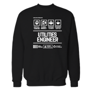 Utilities Engineer Handling Black Shirt