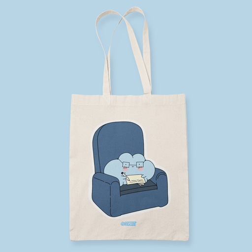 Ulap Reads sofa Sublimation Canvass Tote Bag
