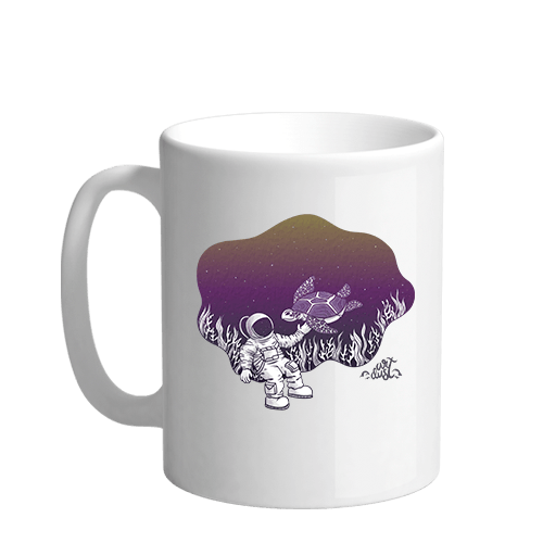 Underwater Astronaut Sublimation White Mug