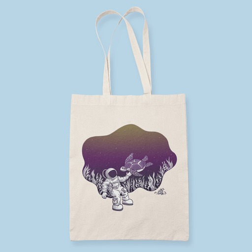 Underwater Astronaut Sublimation Canvass Tote Bag