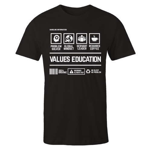Values Education Handling Black Cotton Shirt