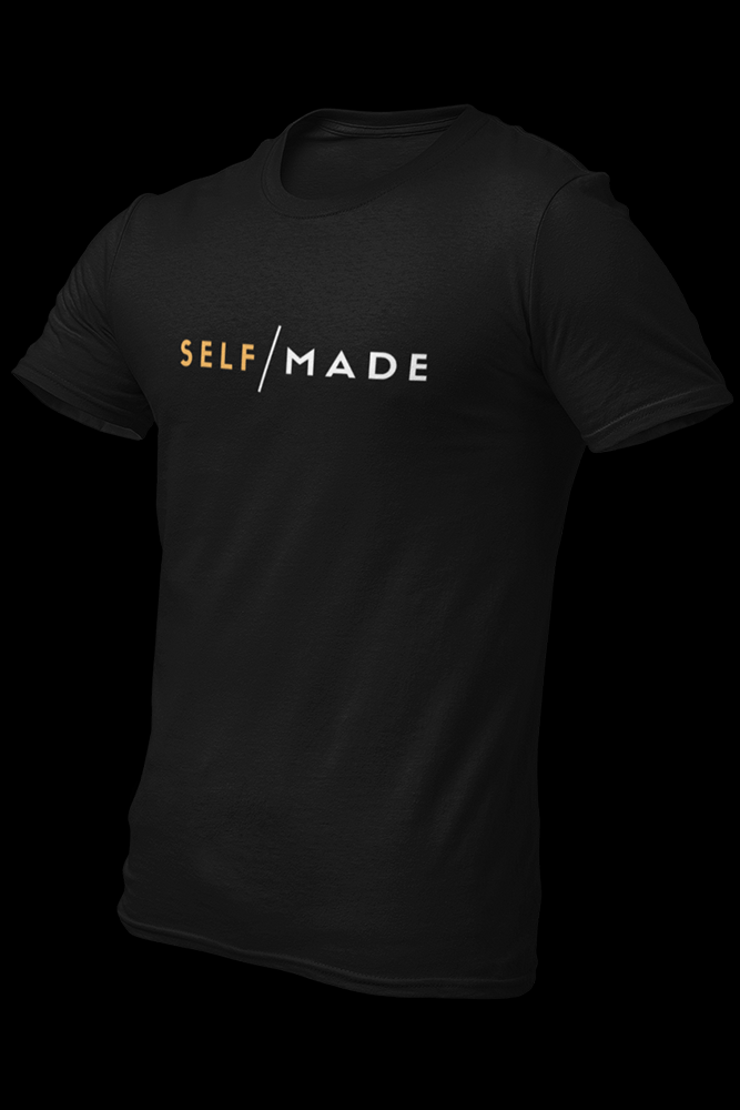 Self Made Black Cotton Shirt
