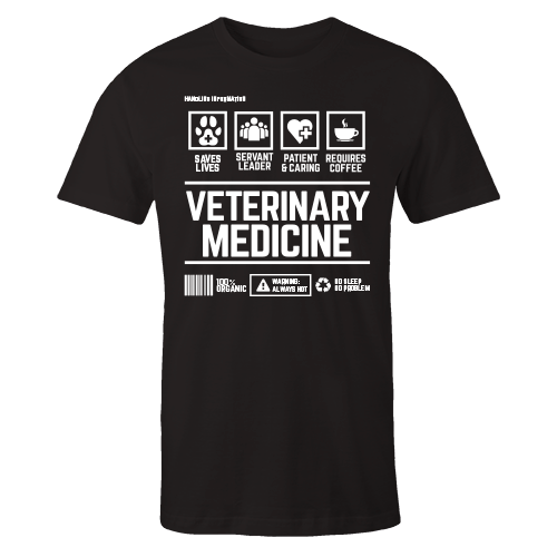 Veterinary Medicine Handling Black Shirt