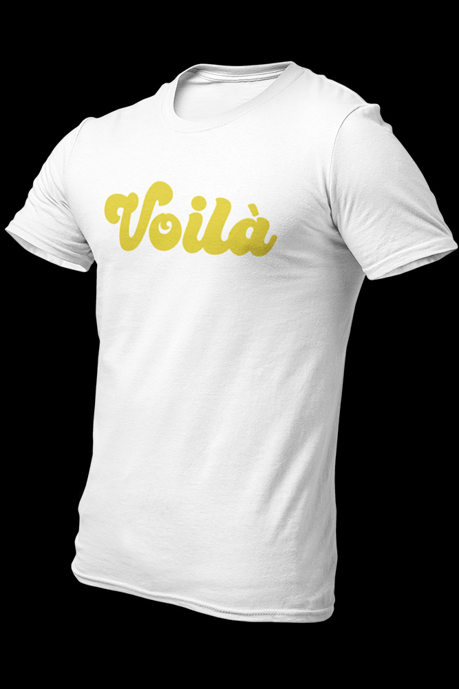 Voila Horizontal Logo White Cotton Shirt