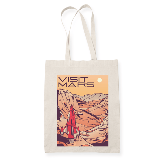 Visit mars Sublimation Canvass Tote Bag