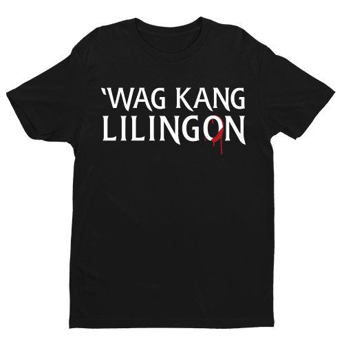 Wag Kang Lilingon Black Cotton Shirt