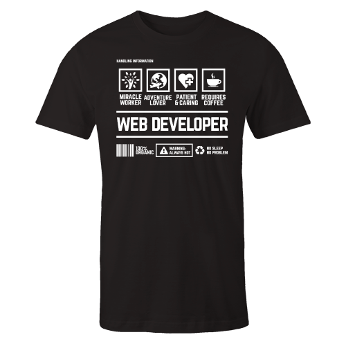 Web Developer Handling Black Shirt