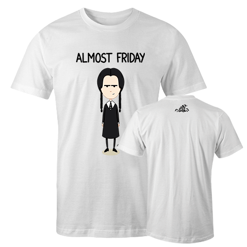 Wednesday Addams Sublimation Dryfit Shirt With Logo At The Back