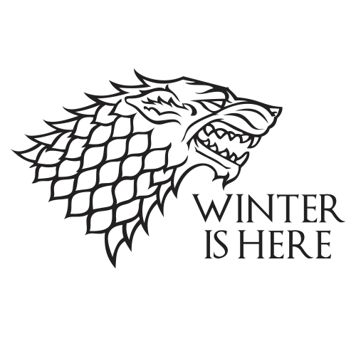 Winter Is Here Black Cotton Shirt
