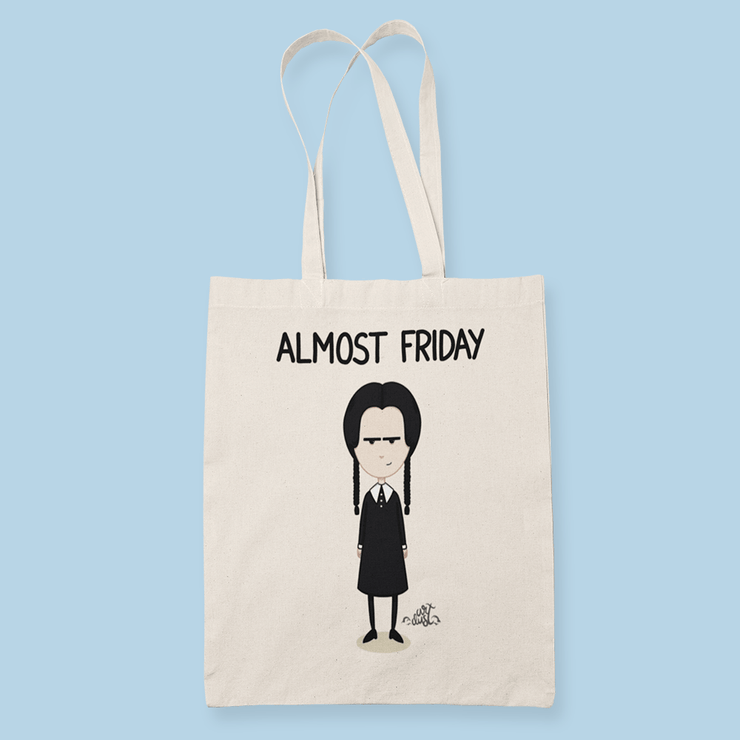 Wednesday Addams Sublimation Canvass Tote Bag