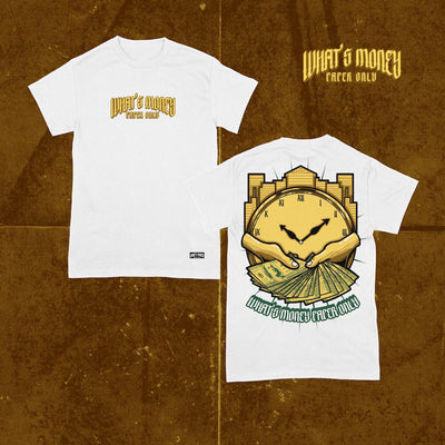 Whats Money White Cotton Shirt of Billionaire Gang Clothing by Von Ordona