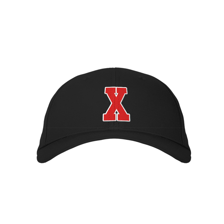 Letter X Black Embroidered Cap