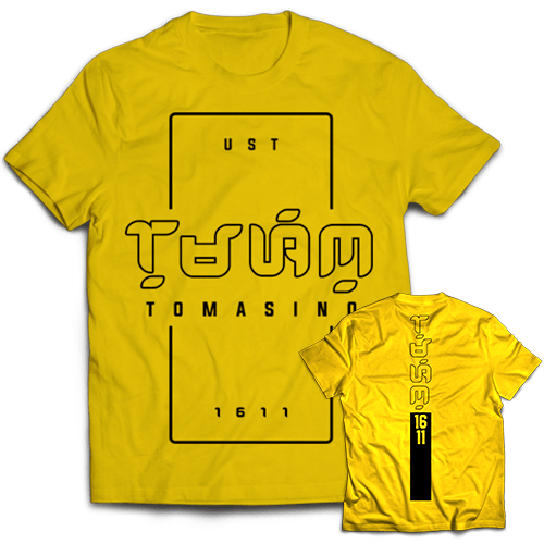 Baybayin Tomasino Yellow Cotton Shirt