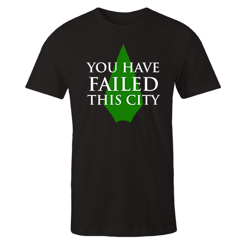 You have failed this city  Black Cotton Shirt