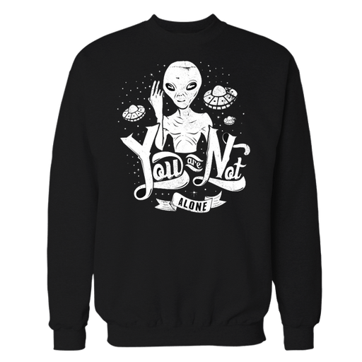 Space Alone Black Sweatshirt