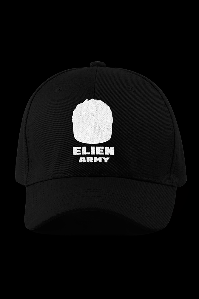 ELIEN ARMY LOGO Black Embroidered Cap
