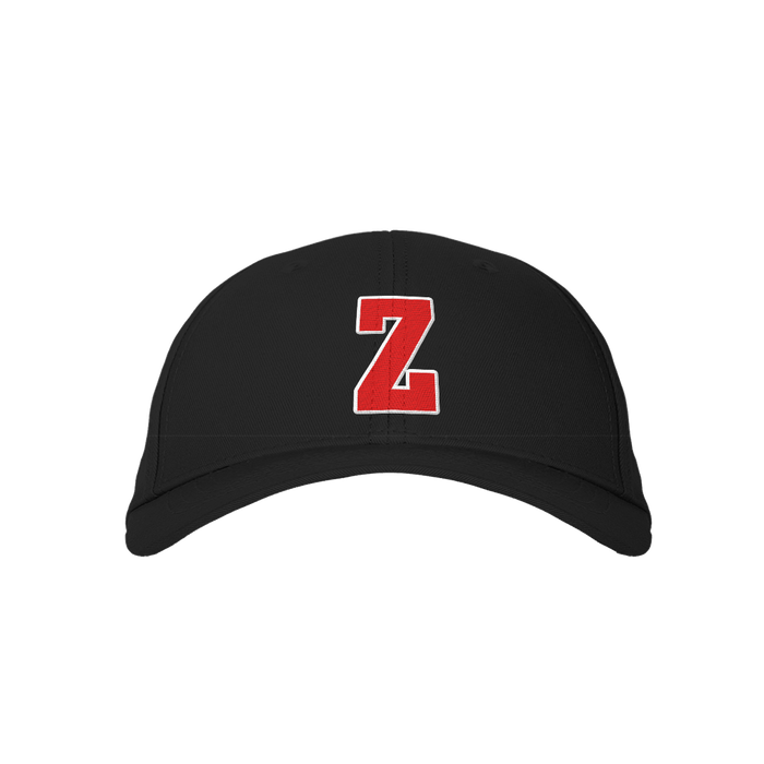 Letter Z Black Embroidered Cap