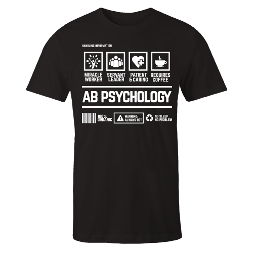 AB Psychology Handling Black Cotton Shirt