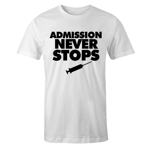Admission Black Print White Cotton Shirt