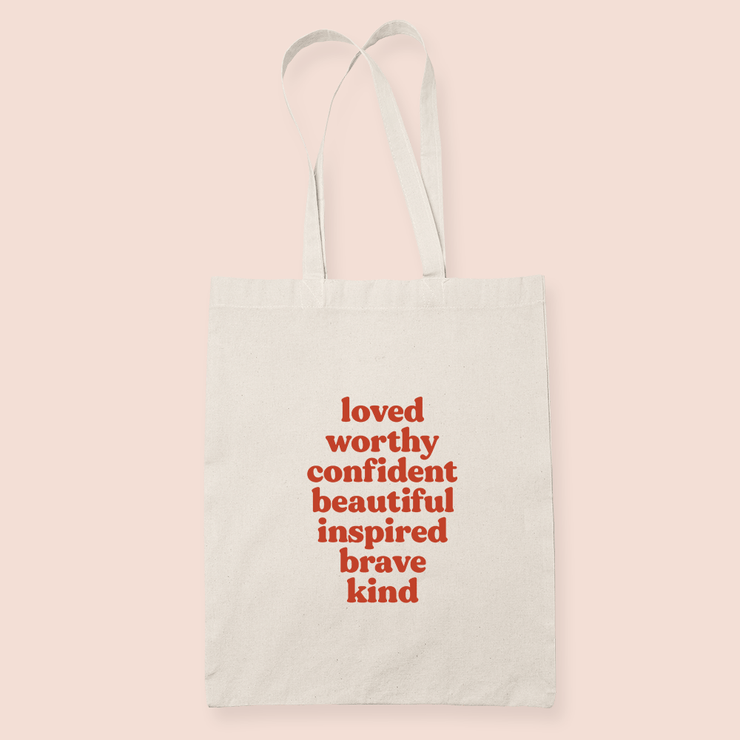coffee & midnights affirmations sublimation canvas tote bag