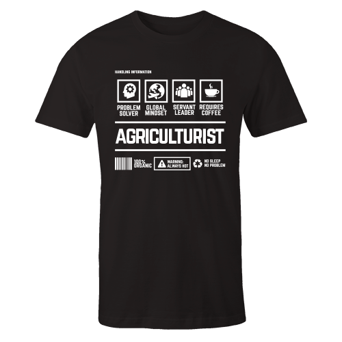 Agriculturist Handling Black Cotton Shirt