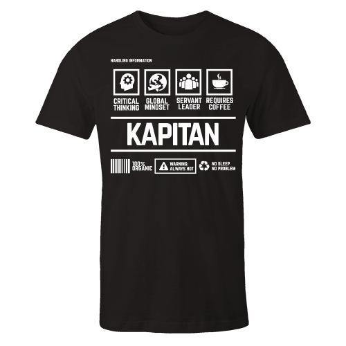 Kapitan Handling Black Cotton Shirt