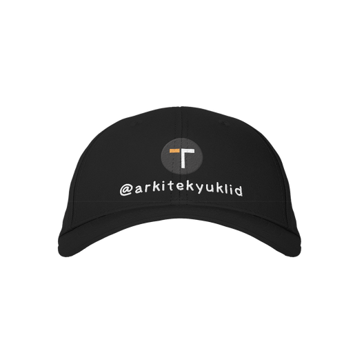 Arkitekyuklid Black Embroidered Cap