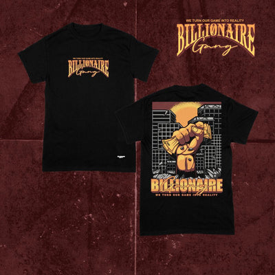 Billionaire Gang Black Cotton Shirt of Billionaire Gang Clothing by Von Ordona