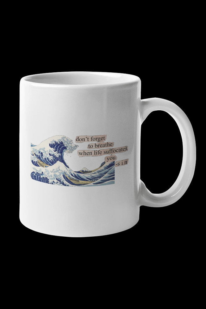 wave Sublimation White Mug