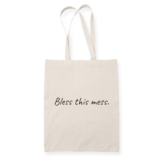 Bless This Mess Sublimation Canvass Tote Bag
