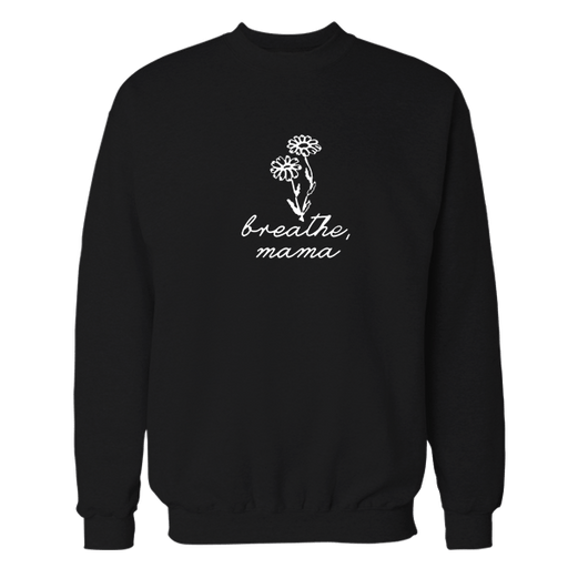 Breath Black Embroidered Sweatshirt