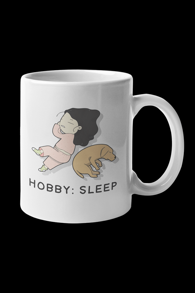 Hobby sleep Sublimation White Mug