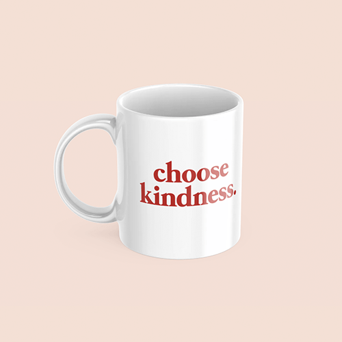 coffee & midnights choose kindness sublimation white mug