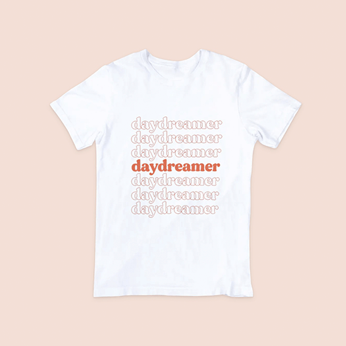 coffee & midnights daydreamer burnt orange print sublimation dryfit shirt