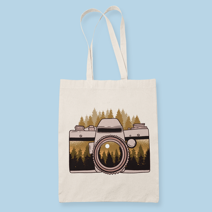 Camera Forest Sublimation Canvass Tote Bag