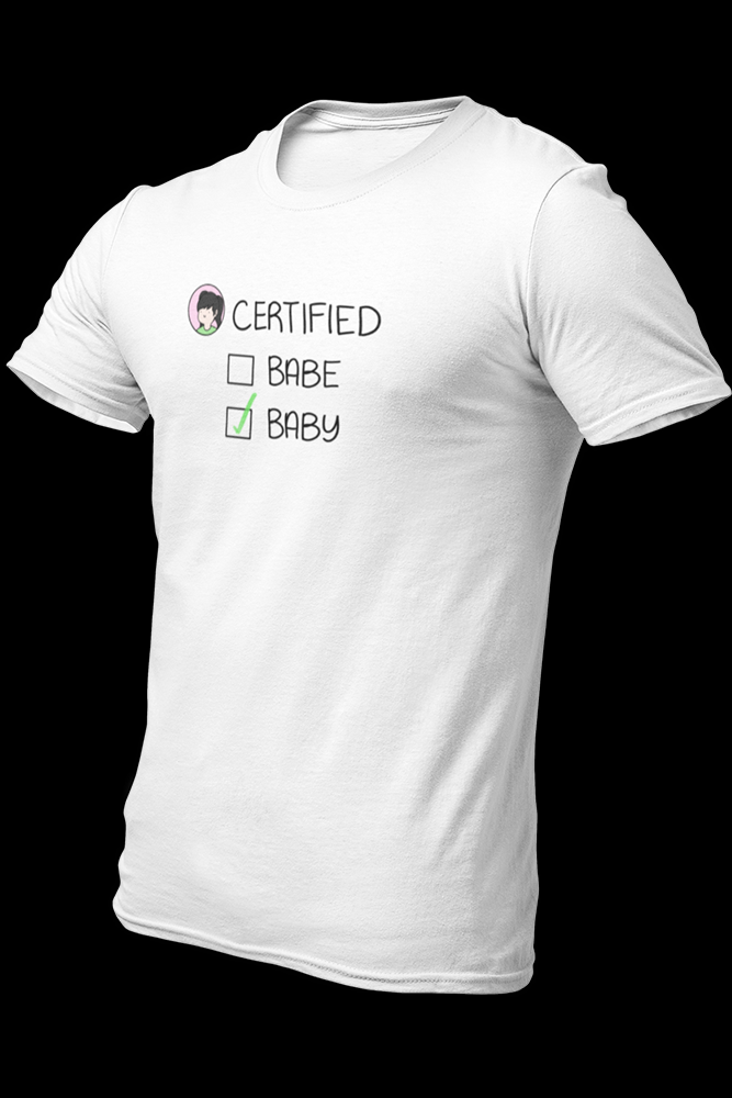 certified baby Sublimation Dryfit Shirt W/back Logo