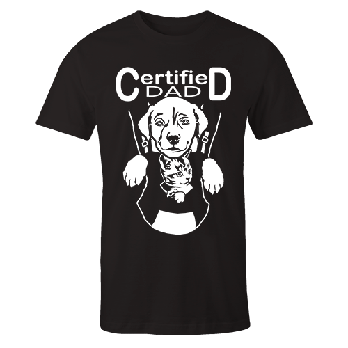 Certified Dad Black Cotton Shirt