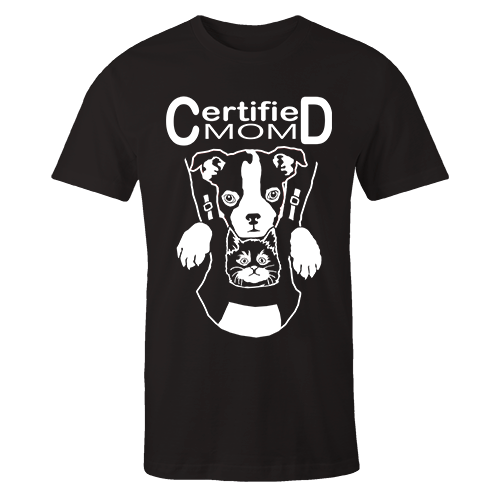 Certified Mom Black Cotton Shirt