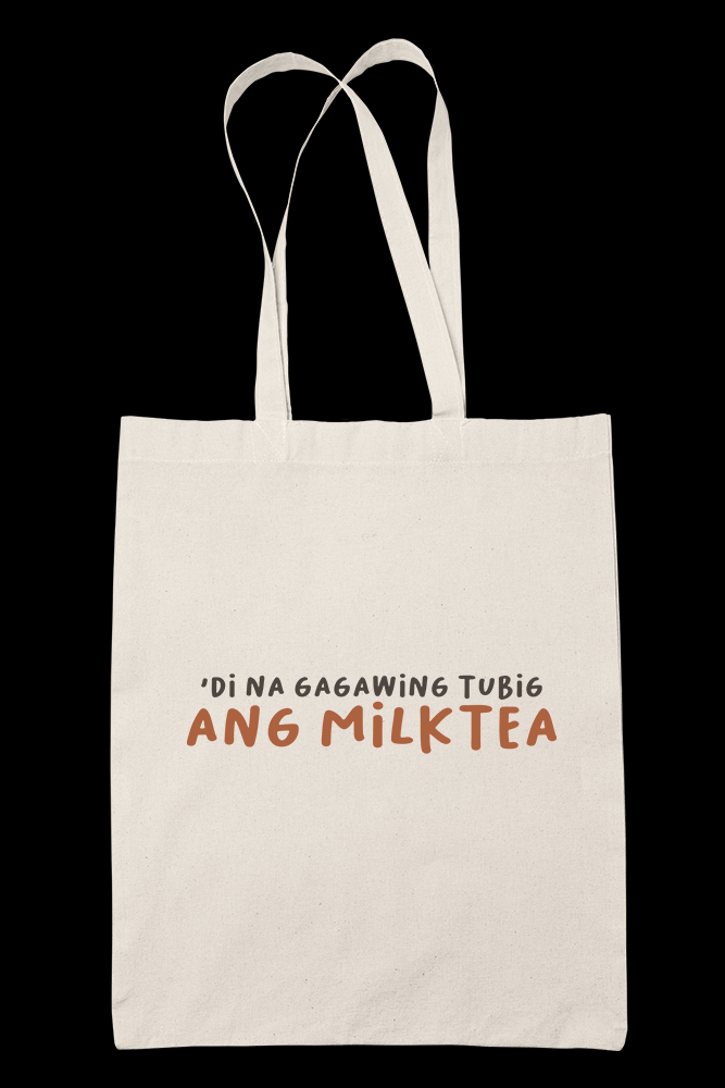 MILKTEA AS TUBIG Sublimation Canvass Tote Bag