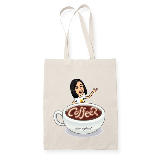 Nanay Coffee Sublimation Canvass Tote Bag