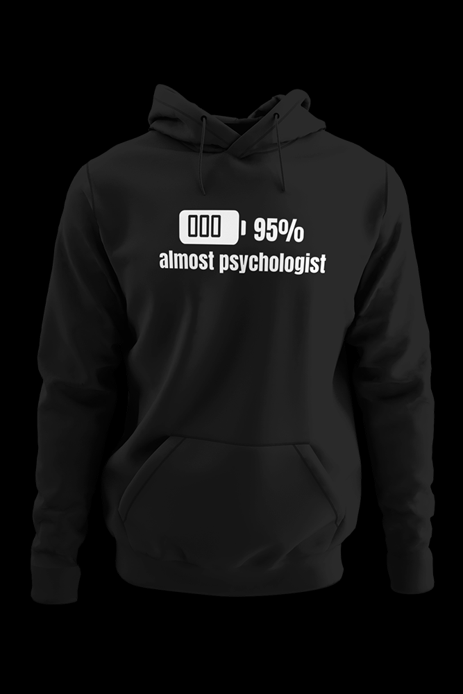 Almost Psychologist Black Hoodie