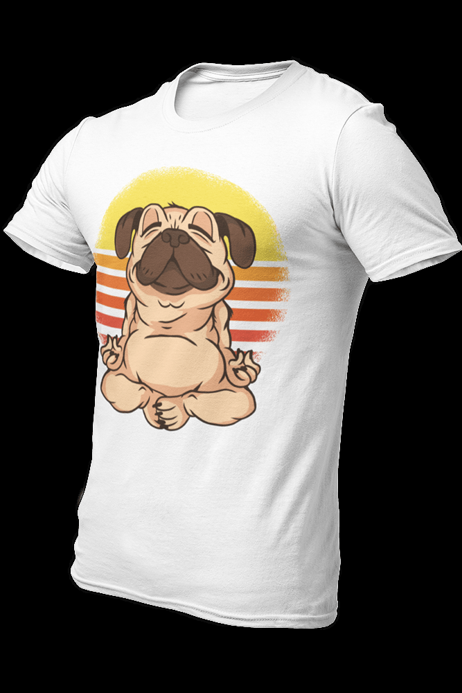 Yoga Pug Sublimation Dryfit Shirt