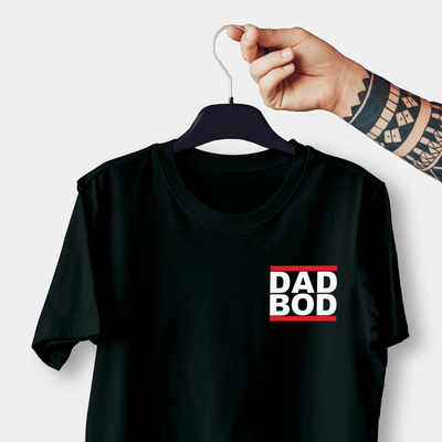 DAD BOD Black Embroidered Shirt