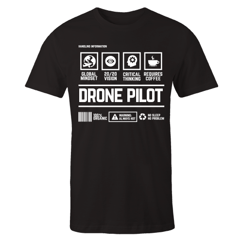 Drone Pilot Black Cotton Shirt