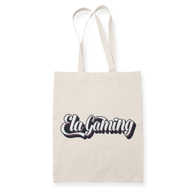 Ela Gaming Text Sublimation Canvass Tote Bag
